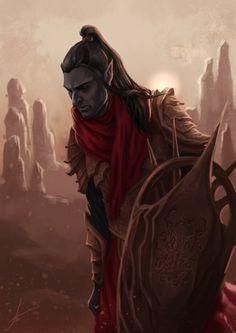Blood and Ash  Artwork by Eugeniya Poleva    Dunmer of Morrowind