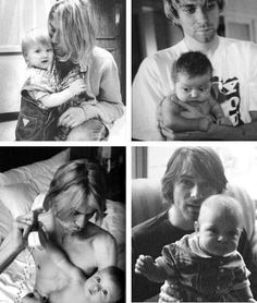Kurt and Frances Cobain CG Kurt Cobain Quotes, Nirvana Kurt Cobain, Love Of My Life, Peace And Love, I Love You Dear, Kurt And Courtney, Find My Friends, Frances Bean Cobain, Donald Cobain