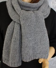 The noble quality knitted scarf is hand knitted from 100% pure cashmere.  The knitted scarf is super soft, cuddly and naturally scratch-free.  Made from the finest fibers that tenderest of precious wool, pure cashmere not only impresses with its softness and its luster, but also by its warmth and lightness.  Its a Dream. They simply must have.  The scarf for him and her.  The knit cap MANOU-2 fits this scarf and is also available in the shop to buy.   Model: Cashmere SCARF / SHAWL…