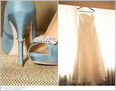 Badgley Mischka shoes for her something blue! LOVE!!! Katrina Bernard Photography - Blog