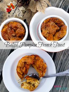 I am in LOVE with Pumpkin. Check out this Baked Pumpkin French Toast which is amazing!