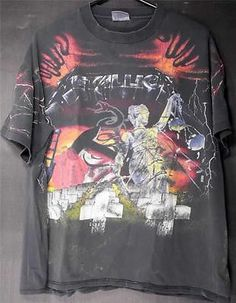 1991 Metallica And Justice for All DOUBLE SIDED T SHIRT BROCKUM USA XL TS502 $60.00
