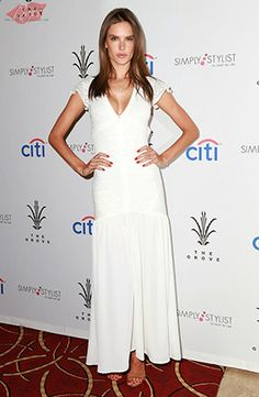 Alessandra Ambrosio at the Simply Stylist LA event at The Grove (March 28, 2015), wearing an Ále by alessandra Vanity Fair Dress. #alessandraambrosio #style
