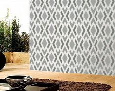 love this pattern for my stencil wall I'd like to create on a smaller scale though