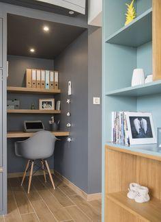 Home Office Decor Interior Design, House Interior, Small Space Interior Design, Home, Interior Design Living Room, Interior, Small Home Offices, Home Decor, Office Design