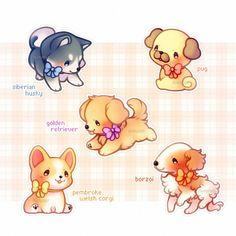 dog training,dog hacks,teach your dog,dog learning,dog tips Cute Kawaii Drawings, Cute Animal Drawings, Kawaii Art, Dog Drawings, Cute Kawaii Animals, Cute Little Animals, Chibi Dog, Cute Dog Drawing, Cute Doodles