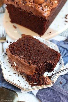 Delicious Cake Recipes, Easy Cake Recipes, Yummy Cakes, Baking Recipes, Delicious Chocolate, Chocolate Flavors, Easy Bake Cake, Chocolate Loaf Cake, Cake Receipe