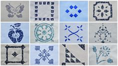 12 appliques inverses - Dutch Treat quilt - Brodeuse Bressane
