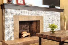 Fireplace Tile Design Living Room