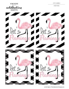 Let's flamingle free printable