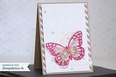 Video - Glückwunschkarte mit Schmetterling • Stempelwiese
