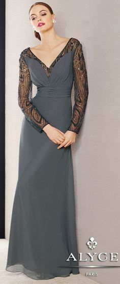 Evening DressesMother of the Bride Dresses by Jean De Lys for Alyce29714Look Divine!