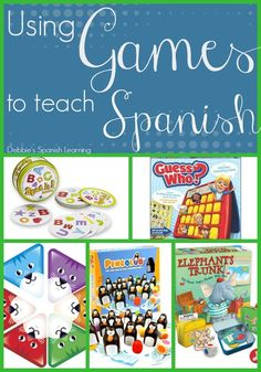 Debbie's Spanish Learning: Using Games to Teach Spanish for Spanish class Spanish Classroom Activities, Preschool Spanish, Spanish Lessons For Kids, Spanish Lesson Plans, Listening Activities, Classroom Games, Spanish Club Ideas, Spanish Games For Kids, Spanish 1