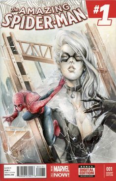 Black Cat & Spider-Man Sketch Cover by Yuriko Shirou!, in Dávid Nyitrai's Commission list is OPEN - YURIKO SHIROU! Comic Art Gallery Room
