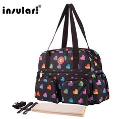 2e1b843a78a Insular New Print Bolsa Maternidade Large Capacity Travel Stroller Bag  Multifunction Baby Diaper Bag with Accessories