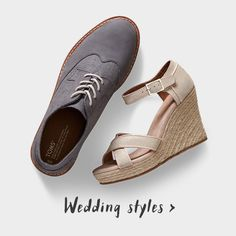 Wedding shoes with a difference they are from TOMS so will give someone else a pair of shoes - what a different and unique idea for your wedding day in such a simple and small way!