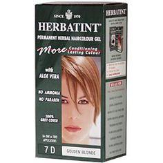 Herbatint, Permanent Herbal Haircolor Gel, 7D Golden Blonde, 4.56 fl oz (135 ml)