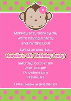 20 Best Mod Monkey Birthday Party Images Birthday Party Ideas