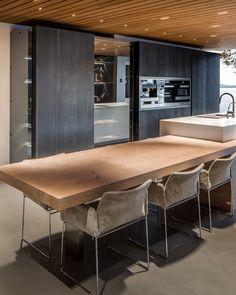 Luxury Kitchen Design, Kitchen Room Design, Interior Design Living Room, Kitchen Dining Living, Diy Kitchen Remodel, New Home Designs, Cuisines Design, Home Kitchens, Luxury Interior