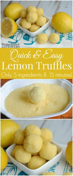 Try this Easy Lemon Truffle Recipe! Grab a box of lemon cake mix and whip up these lemon truffles! The recipe uses 5 ingredients and only takes 15 minutes.
