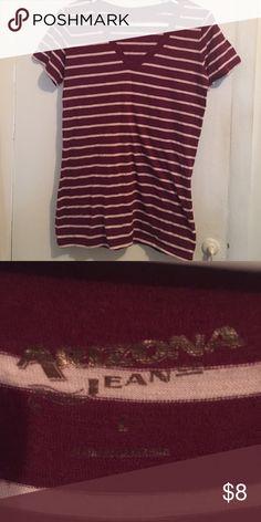 Striped T-Shirt Never worn! Arizona Jean Company Tops Tees - Short Sleeve