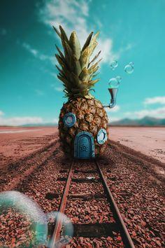 SpongeBob's house 🧽 ❤️ Cartoon Wallpaper Iphone, Disney Phone Wallpaper, Iphone Background Wallpaper, Cute Cartoon Wallpapers, Pretty Wallpapers, Aesthetic Iphone Wallpaper, Galaxy Wallpaper, Aesthetic Wallpapers, Cool Wallpapers For Guys