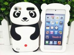 3D Panda Animal Skin Rubber Soft Silicone Case Cover For iPod Touch 5 5th MSC520
