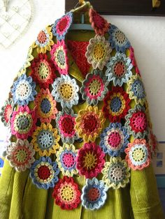 Japanese Flower Scarf no pattern but easy to do