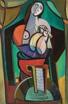 """Tadeusz Kantor """"Praczka"""", 1946, olej na płótnie, 128 x 84 cm, Muzeum Narodowe, Warszawa"""