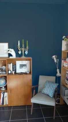 [En archives] Peinture bleue tendance sur les murs de mon salon