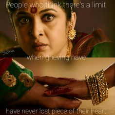 People who think there's limit when grieving have never lost a piece of their heart. Bahubali Movie, Bahubali 2, Bahubali Quotes, Filmy Quotes, Births, Indian Movies, Telugu Cinema, Shiva, Movie Quotes