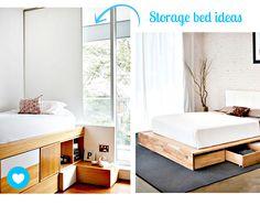 Znalezione obrazy dla zapytania łóżko na podeście diy