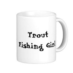 Trout Fishing Girl Coffee Mug