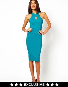 Imagen 1 de Vestido de tubo con cuello subido de Vesper Pencil Dress 6625e52532aa