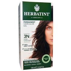Herbatint, Permanent Hair Color, 3N, Dark Chestnut, 4.56 fl oz (135 ml) - 2pc * Want additional info? Click on the image.