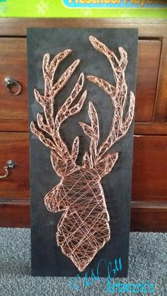 Recycled copper wire weaved stag.. made by M Anderson