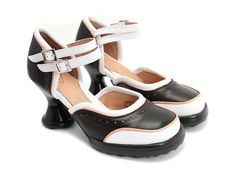 Minis - Qtee in Black/White/Pink.  Fluevog.com, $285.  I kind of want all the colors of these, too!