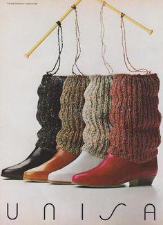 Unisa, the sweater boot, 1984.