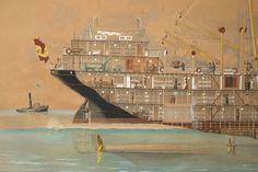 Secció longitudinal del vapor Reina Victòria Eugènia. Popa. Primera meitat s. XX. Autor desconegut. 10351 MMB