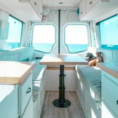 10 Camper Van Bed Designs For Your Next Van Build There is so much space with the way this bed is designed. It really makes the interior of the camper look larger. - Create Your Own Van Camping Car Van, Camping Diy, Camper Beds, Diy Camper, Beach Camper, Camper Table, Campervan Bed, Kombi Home, Camper Van Conversion Diy