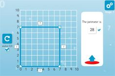 Area and Perimeter Teaching Tool  activity- lots of online math
