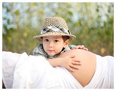 Mom and Son Maternity Session
