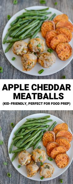 These Apple Cheddar Turkey Meatballs are kid-friendly and perfect for food prep! They're full of flavor and make a great party appetizer or family dinner. Clean Eating Snacks, Healthy Eating, Healthy Cooking, Baby Food Recipes, Healthy Recipes, Turkey Burger Recipes, Meal Prep, Food Prep, Food Food