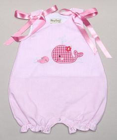Look what I found on #zulily! Pink Whale Bubble Romper - Infant by Classy Couture #zulilyfinds