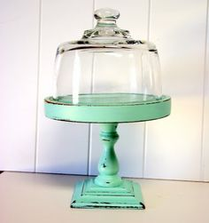 Love this and need to make it mine! Base is painted Martha Stewart Sea Glass