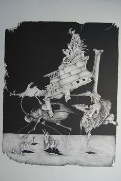 Friedel Peisert Vergänglichkeit Handsigniert 22/50 1974 Phantastischer Realismus