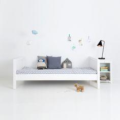 Sanders Jugendbett / Kinderbett FANNY, 90x200cm, Höhe: 70cm, schneeweiß