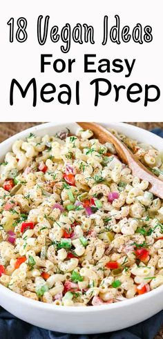 Whether you want to do vegan meal prep for weight loss, on a budget, for the week, or for the month, these recipes are p Vegetarian Meal Prep, Vegan Meal Plans, Lunch Meal Prep, Easy Meal Prep, Healthy Meal Prep, Vegetarian Recipes, Easy Meals, Healthy Recipes, Healthy Routines
