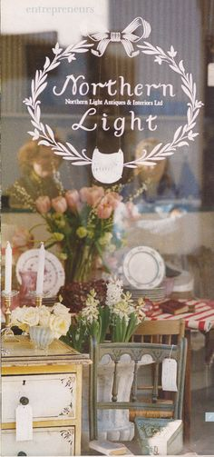 shop window, Victoria Magazine March 2003