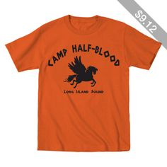 CAMP Half-Blood Tee funny Halloween costume halfblood book story demigods movie Percy Jackson boys new Kids YOUTH Orange T-Shirt DT0001